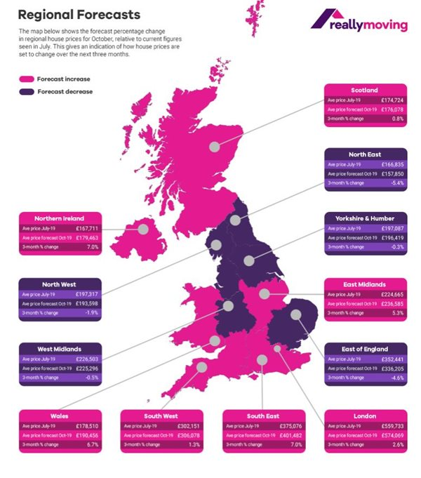 August House Price Forecast shows growth across the UK in